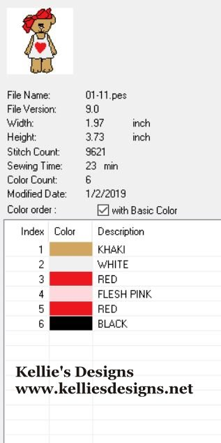 01-11 Color Chart