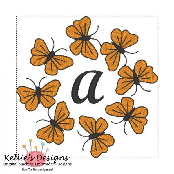 Butterfly Monogram A