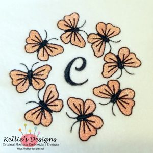 Butterfly Monogram - C