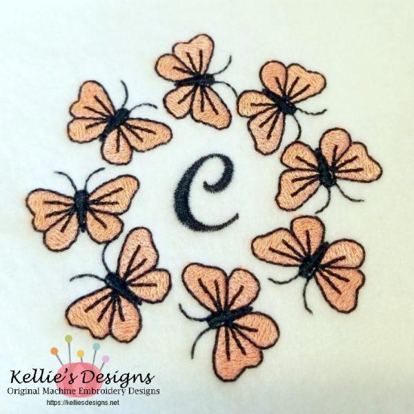 Butterfly Monogram - C