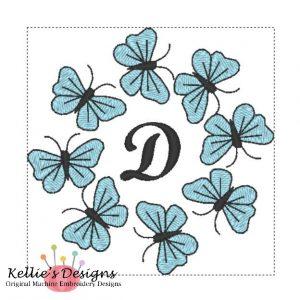 Butterfly Monogram D