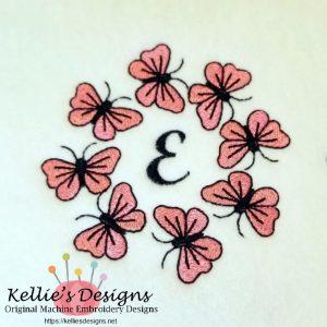 Butterfly Monogram E