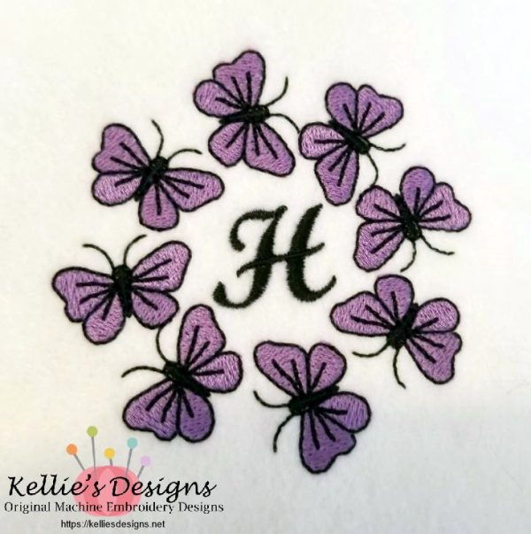 Butterfly Monogram H
