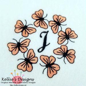 Butterfly Monogram J