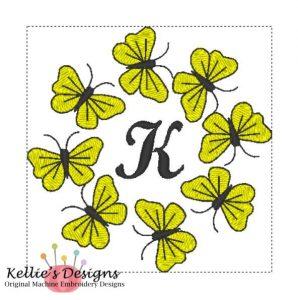 Butterfly Monogram K