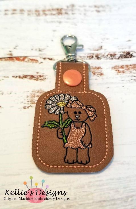 Flower Bear Snap Tab