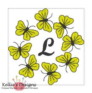 Butterfly Monogram L