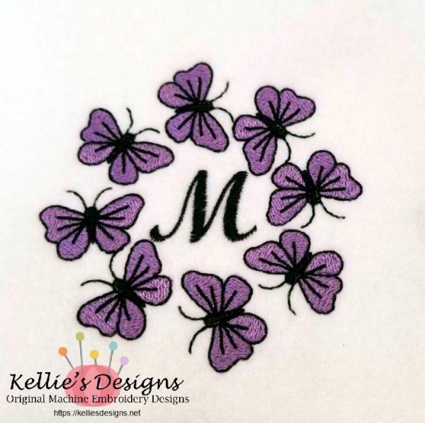 Butterfly Monogram M