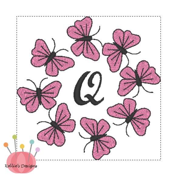 Butterfly Monogram Q