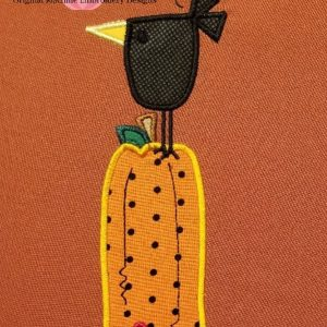Crow Pumpkin Applique