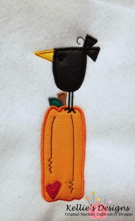 Crow Pumpkin Applique