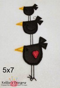 Bird Trio Applique