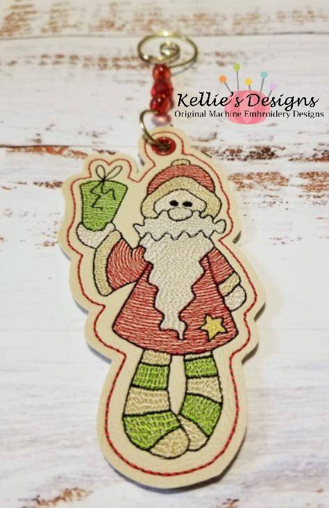 Santa With Present Ornament