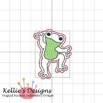 Happy Frog Feltie