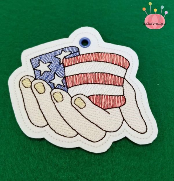 US Flag In His Hands Ornament