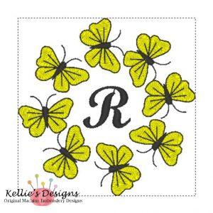 Butterfly Monogram R