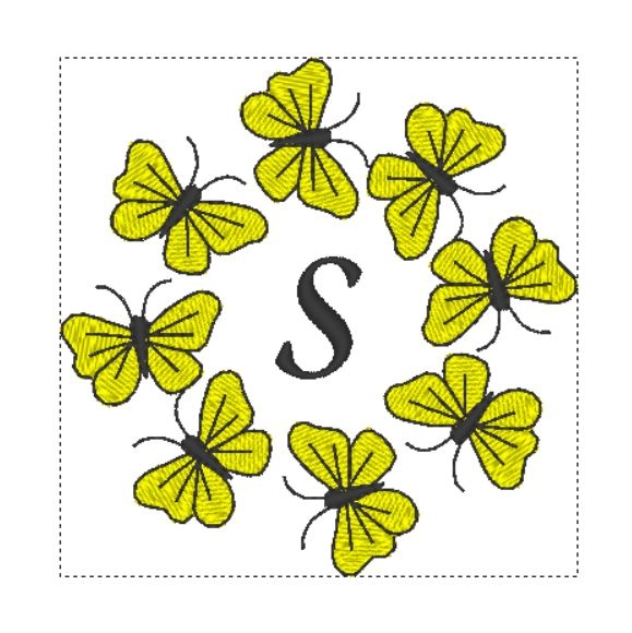 Butterfly Monogram S