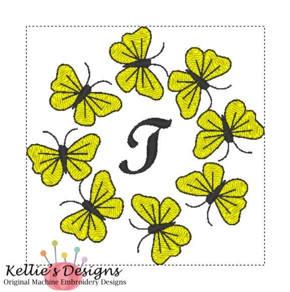 Butterfly Monogram T