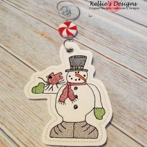 Snowman and Bird Ornament