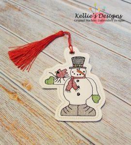 Snowman and Bird Ornament