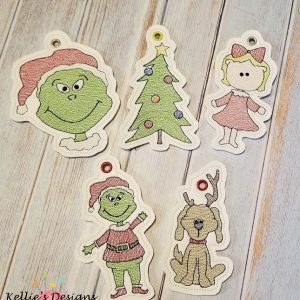 Grouchy Christmas Ornament Set