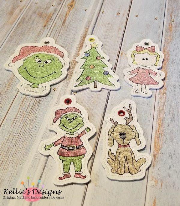 Grouchy Christmas Ornament Set