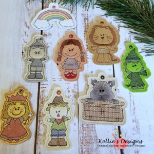 Yellow Brick Road Ornament Set