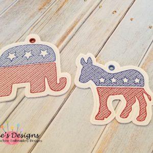 Political Party Ornament Set