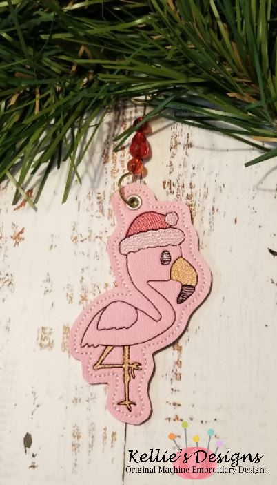 Flamingo Santa Ornament