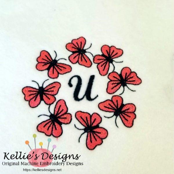 Butterfly Monogram U