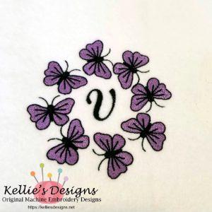 Butterfly Monogram V