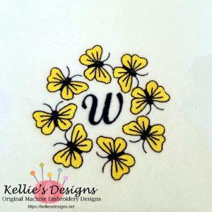 Butterfly Monogram W