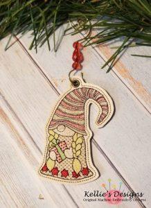 Gnome With Present Ornament