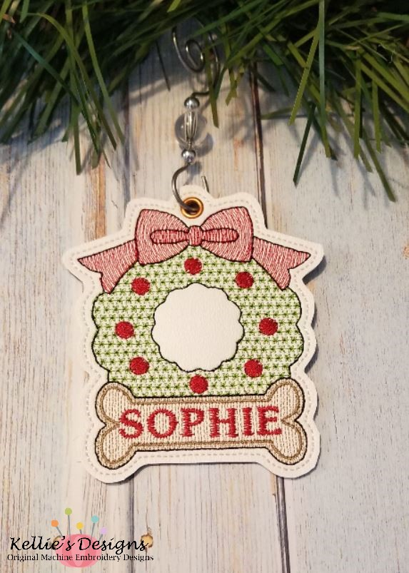 Wreath Bone Ornament