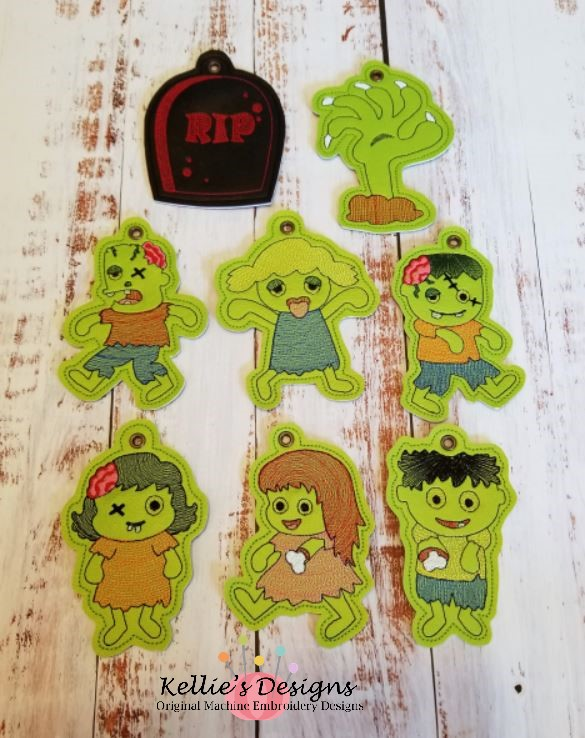 Zombie Land Ornament Set