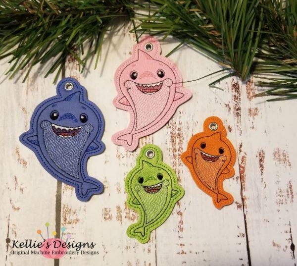 Shark Family Ornament Set