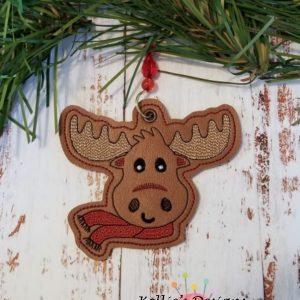 Christmas Moose Ornament