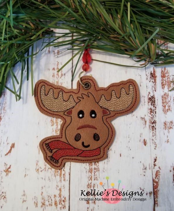 Christmas Moose Ornament