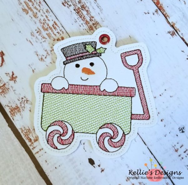 Peeking Snowman Ornament