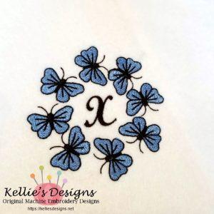 Butterfly Monogram X