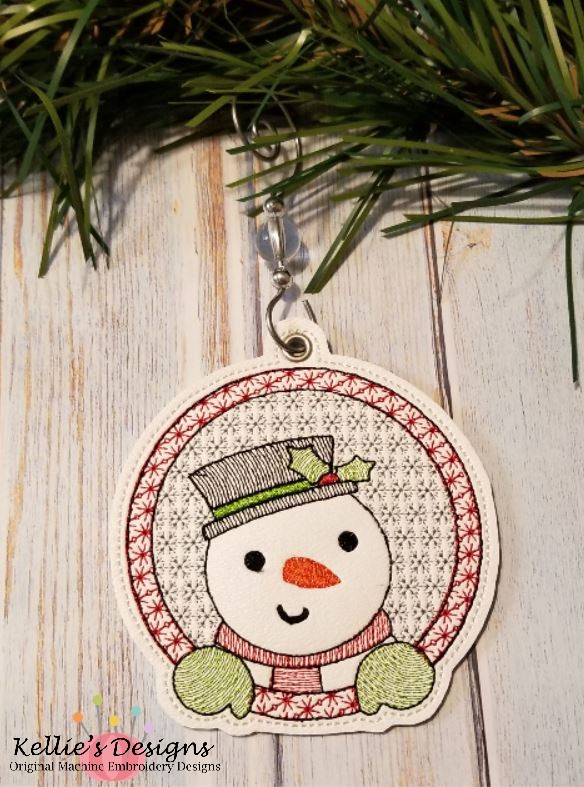 Snowman Frame Ornament