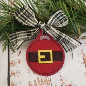 Santa Belt Ornament