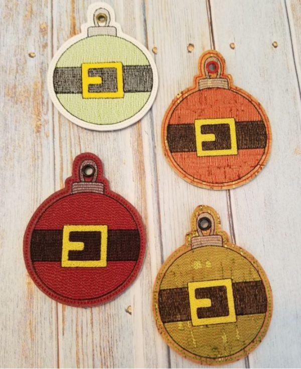 Santa Belt Ornament