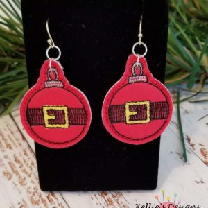 Santa Belt Earrings
