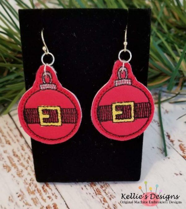 Santa Belt Earrings