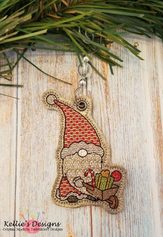 Wheelbarrow Gnome Ornament