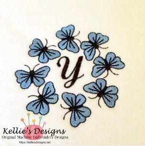 Butterfly Monogram Y