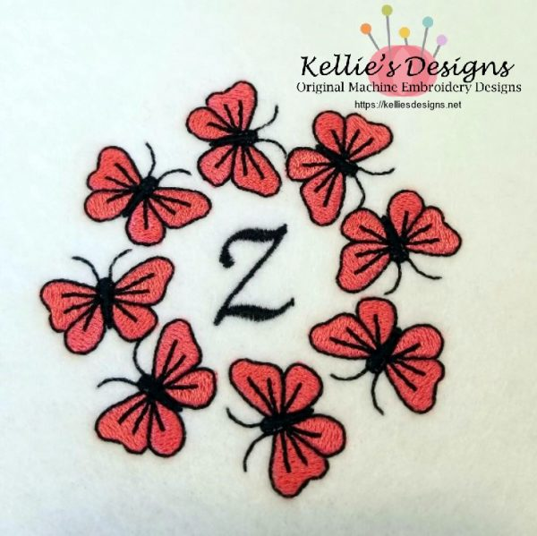 Butterfly Monogram Z