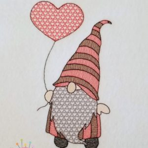 Sketch Heart Balloon Gnome