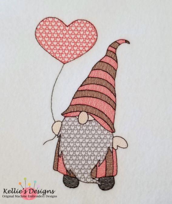 Sketch Heart Balloon Gnome